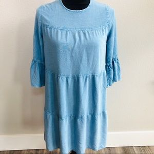 D&Kade chambray blue rayon dress